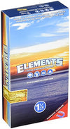 Elements 1 1/4 1.25 Size Ultra Thin Rice Rolling Paper With Magnetic Closure Box of 25 Packs