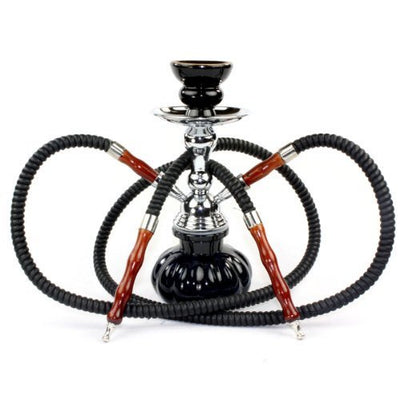 "GSTAR 11"" Premium 2 Hose Hookah Complete Set - Mini Pumpkin Hookah Glass Vase - Pick Your Color"