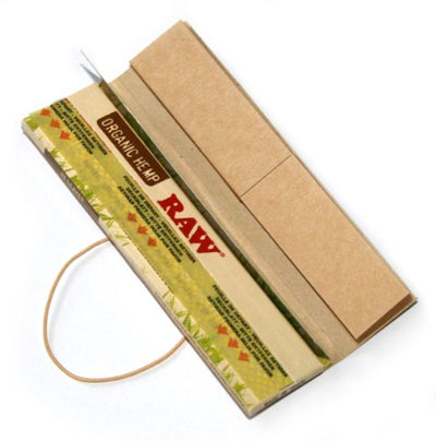 5 x RAW CONNOISSEUR Natural UNREFINED Hemp Rolling papers ORGANIC + TIPS