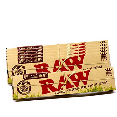 RAW Organic Hemp Natural Unrefined Rolling Paper - King Size Slim Size