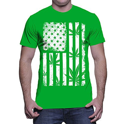 Men's Marijuana American Flag T-shirt