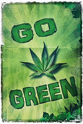 Go Green Marijuana Wall Poster Print|12 X 18 In Poster|KCP11