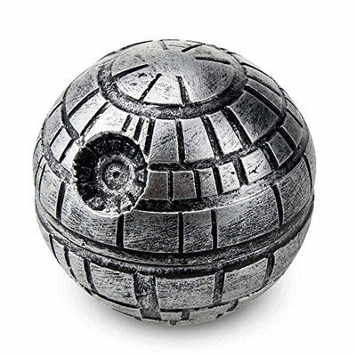 Premium Death Star 3 Piece Herb Grinder With Pollen Scraper By Herb Life (Grinder is 2 Inches or 50 mm)