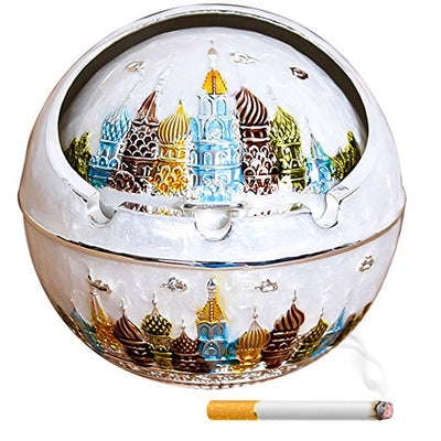 Tripolar Creative Eco-friendly Paint Cigar Ashtray KTV Decorative Ash Bins Tray Cigarette Table Art Decoration Home Decor or Bar Decorations-As Fantasy Gifts for Men or Smokers