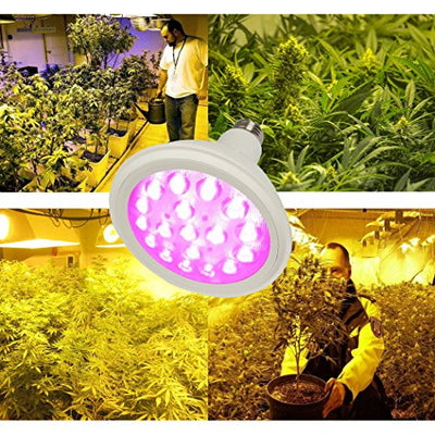 LED Grow Light Bulb, Growing Plant Lamp for Greenhouse Hydroponic Aquatic Indoor Plants of Cannabis Marijuana Weed and Medicinal Plants (E26 18W)