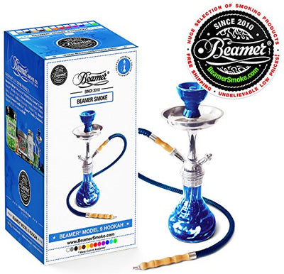 Blue Beamer Model 9 Hookah Set + Limited Edition Beamer Smoke Sticker