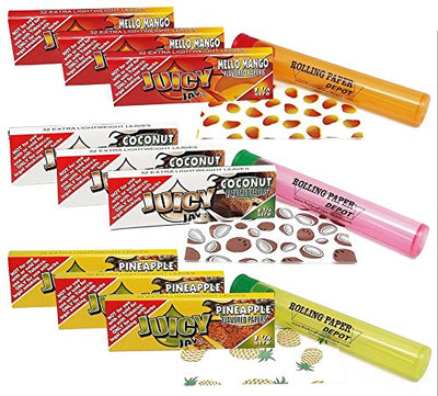 "Juicy Jays ""Tropical Fruit"" Flavors - 1 1/4 Flavored Rolling Papers"