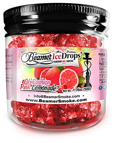 Ol' Fashion Pink Lemonade Ultra Premium Beamer Ice Drops Hookah Shisha Smoking Gel. Each bowl lasts 2-4 Hours! USA Made, Huge Clouds, Amazing Taste! Better Taste & Clouds than Tobacco!