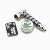 Mini 2 Layer Metal Herb Grinder & Herbal Pipe