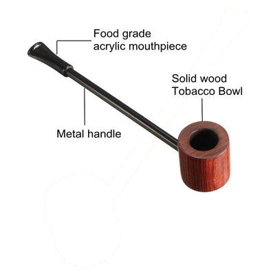 Wood Portable Herb Tobacco Pipe