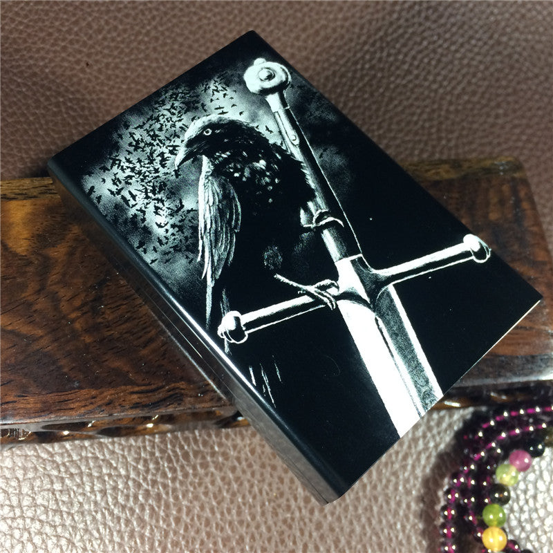Crow Metal Cigarette Case