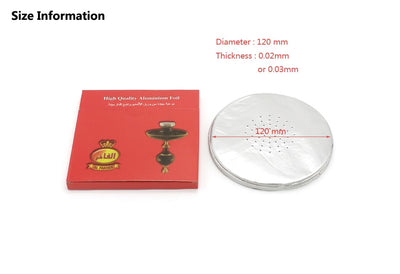 50 pcs/Pack 0.02&0.03mm Shisha Aluminium Foil With Hole