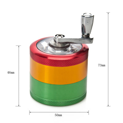 50mm 4 Layers Metal Aluminum Herb Crank Grinder
