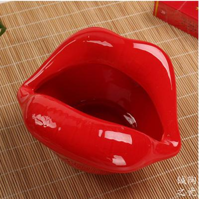 Lips Ceramic Ashtray