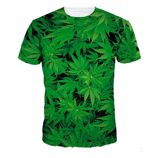 Weed Hemp Leaf 3D T-Shirt