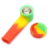 "3.4"" Silicone Weed Pipe With Metal Filter"
