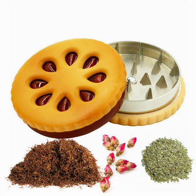 55mm Cookie Shape Biscuit Tobacco Herb Grinder