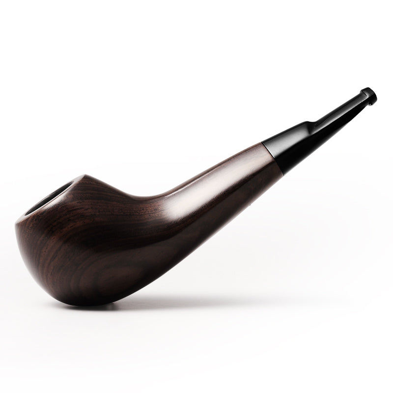 Ebony Trumpet Tobacco Pipe