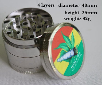 4 Layers Mini Hand Muller Metal Weed Grinder