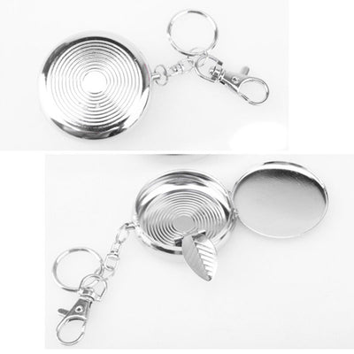 Pocket Portable Round Ashtray With Keychain
