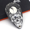 Skull Pattern Lock Double Super Sharp Blades Cigar Cutter