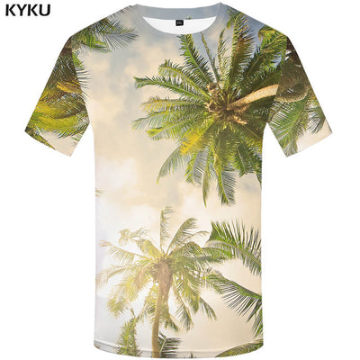 Weeds Green Leaves Short Sleeve T-Shirt