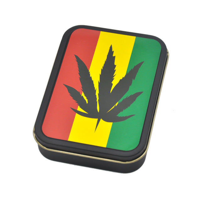 Reggae Rasta Tobacco Box with Sticker