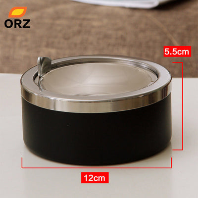 Portable Round Shape Windproof Smokeless Ashtray