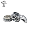 3 Layers Skull Metal Herb Grinder