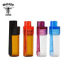 2 Ps Bullet Rocket Snuff Snorter With Acrylic Cap Spoon