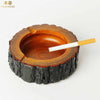 Portable Wooden Smoking Ashtray