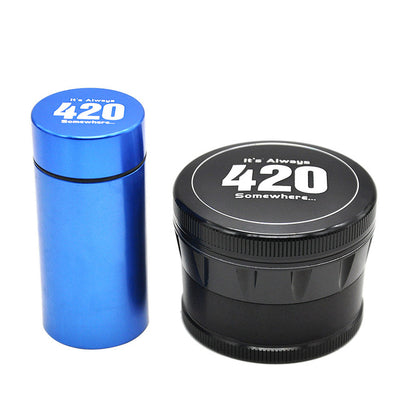 """It's Always 420"" 4 Layers 63mm Herb Crusher"
