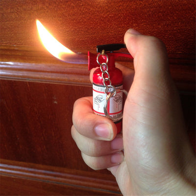 Mini Fire Extinguisher Shaped Lighter Key Chain