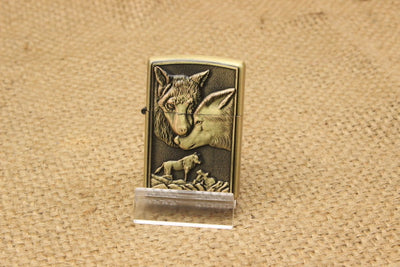 Retro Metal Carving Oil Fire Lighter