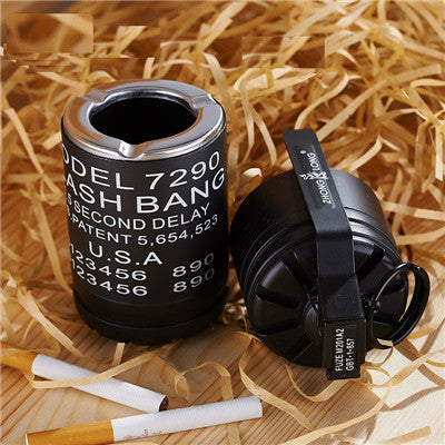 Military Bomb Torch Lighter Ashtray