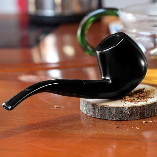 9mm Filter Ebony Wood  Handmade Tobacco Pipe