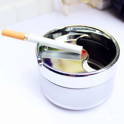 Rotary Metal Ashtray with Lids
