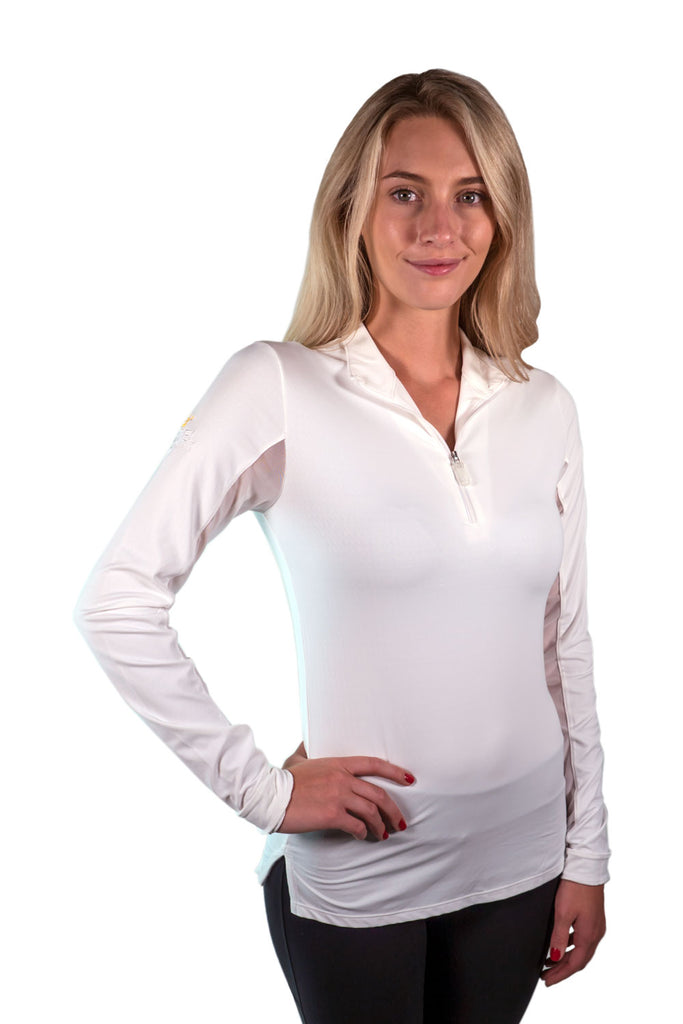 Kastel Charlotte Technical Long Sleeve - White with White Trim