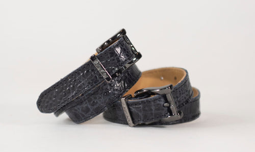 Kingsley Spur Straps - Alligator Blue