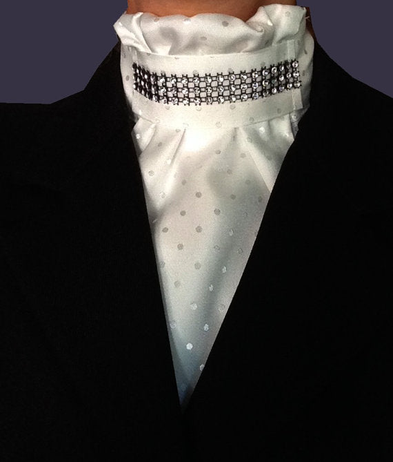 Euro Style Stock Tie with Rhinestones