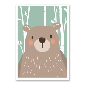 Affiche ours scandinave