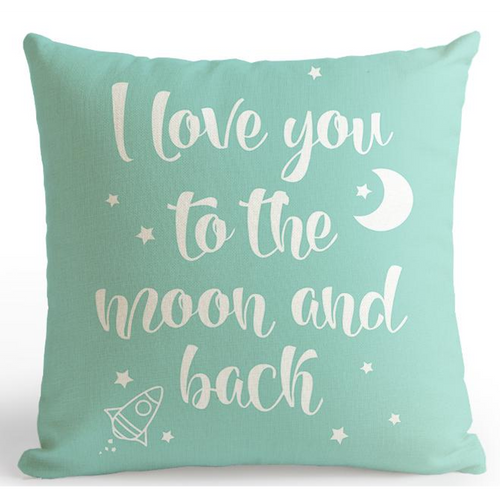 Housse de coussin i love you to the moon - Mon alpaga