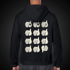 Thumbs Up Zip Hoodie