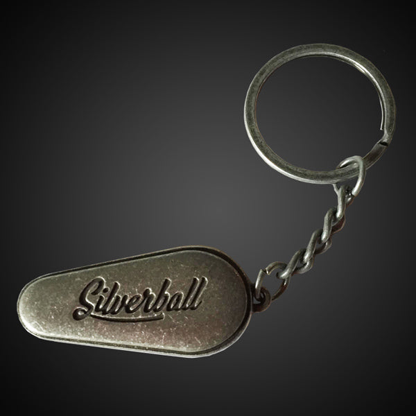Silverball Paddle Keychain