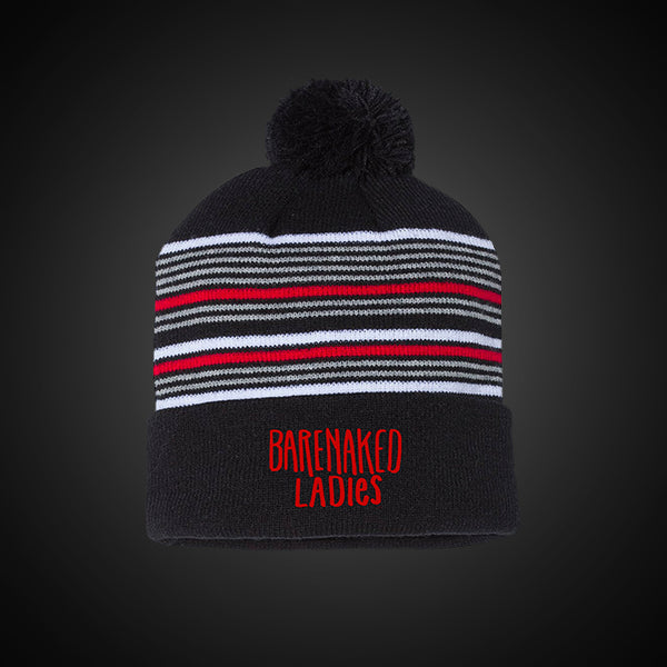 Barenaked Ladies Blk/Red Pom Logo Beanie