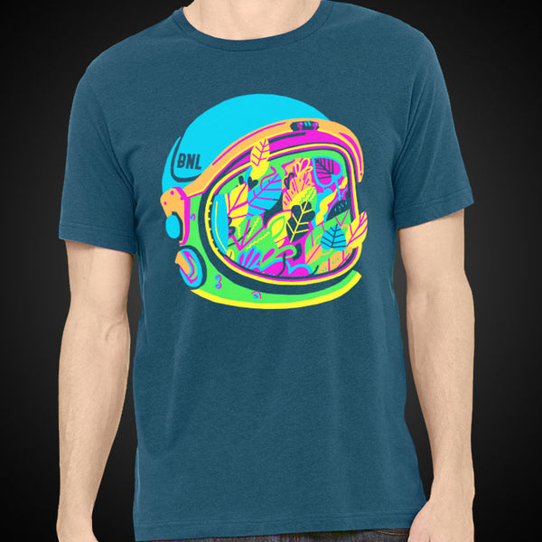 SPACE HELMET BLUE TEE