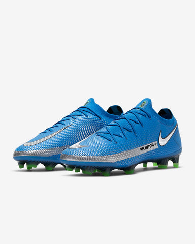 Nike PHANTOM GT Elite FG - PHOTO BLUE/METALLIC SILVER