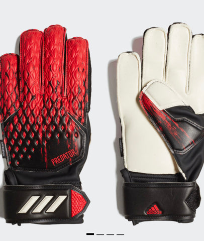 Adidas Predator 20 Match Fingersave Goalkeeper Gloves - Black/Red