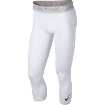 Nike Pro 3/4 Training Pants - White