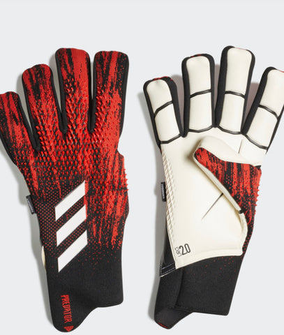 Adidas Predator 20 Pro Fingersave Goalkeeper Gloves - Black/Red